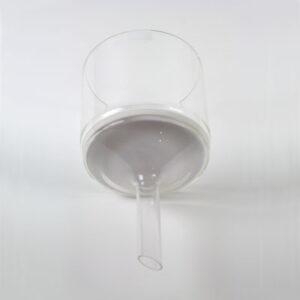 Büchner-tratt i glas